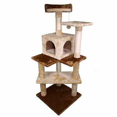 51  Cat Tree Kitty Tree Condo Furniture Scratch Post Pet Play House For Training