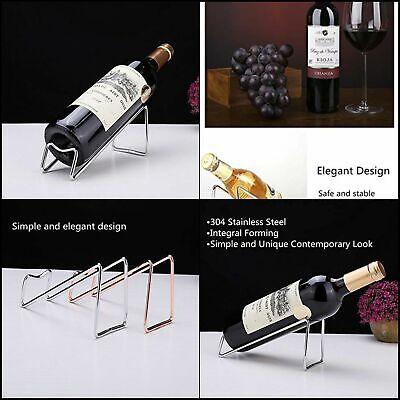 Wine Rack Single Wine Bottle Holder Stainless Steel Elegant Design Home (Single Wine Rack)