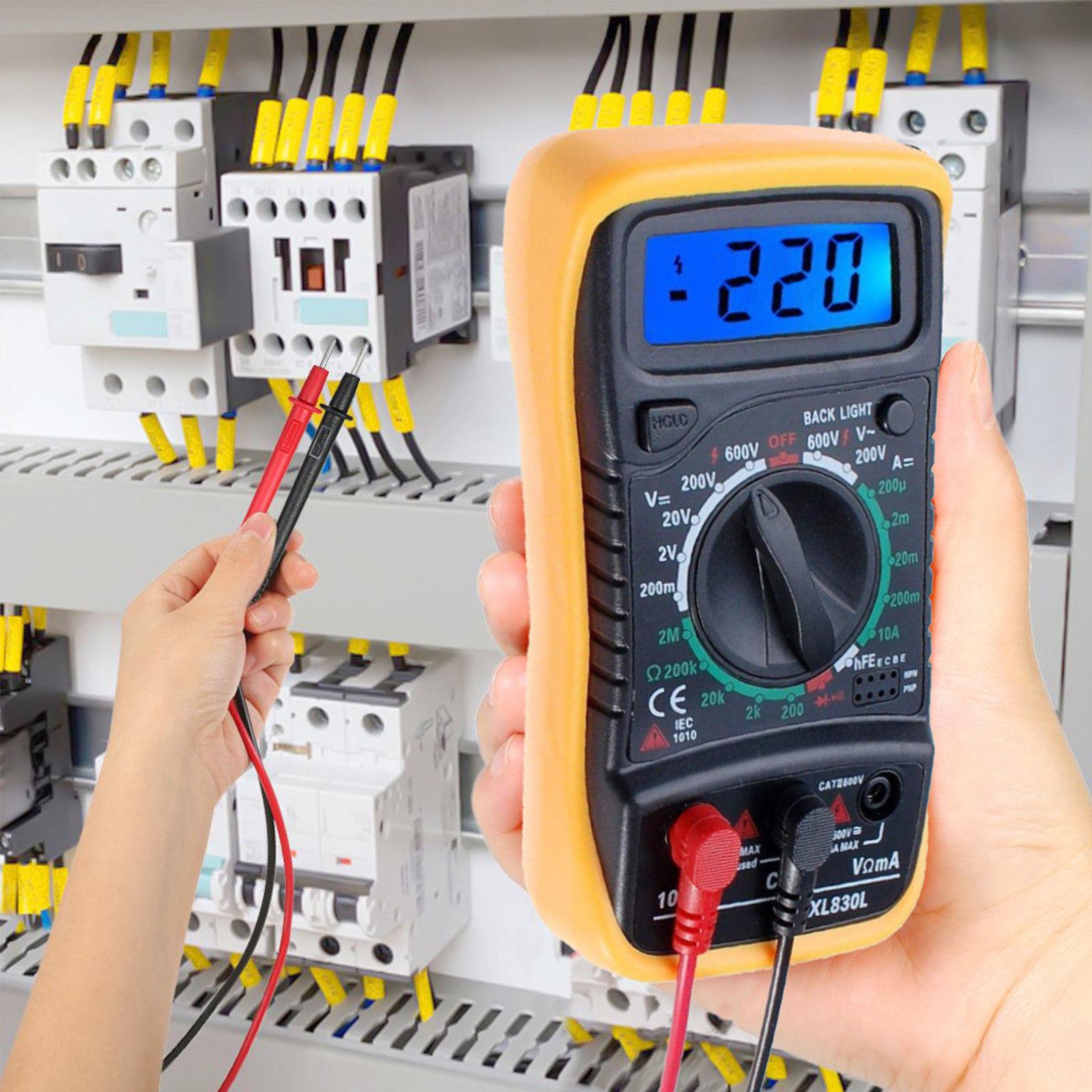 Lcd Digital Multimeter Voltmeter Ammeter Tester Meter Ohm Volt Ac Dc Electrical Circuit 9v Battery Ebay