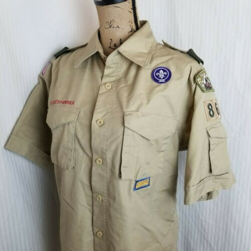 Boy Scouts of America BSA Adult Official SS Shirt Sz Small Sleeve Pocket