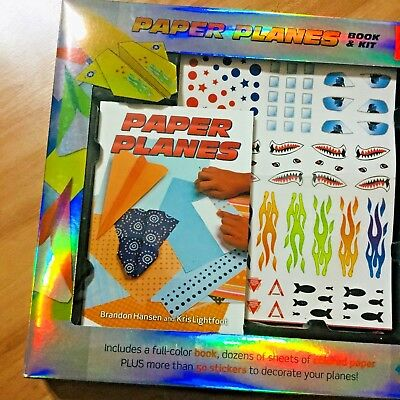 Making Paper Planes Art Book And Craft Activity Kit w 50+ Stickers Brand New