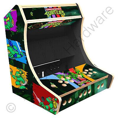 "BitCade 2 Player 19"" Bartop Arcade Cabinet Machine with TMNT / Turtles Artwork"