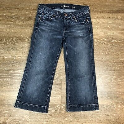 7 For All Mankind Dojo (7 For All Mankind Dojo Cropped Jeans Dark Wash  Size 25 Inseam 21 Women's (A27))