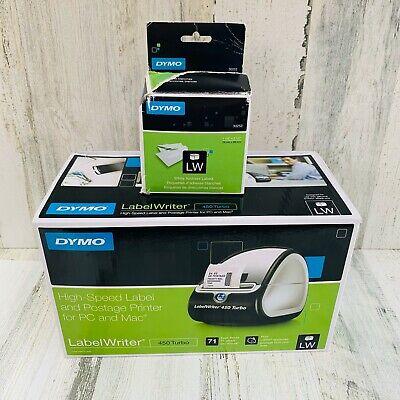 Dymo Labelwriter 450 Turbo Thermal Label Printer 1750283 New Free Shipping