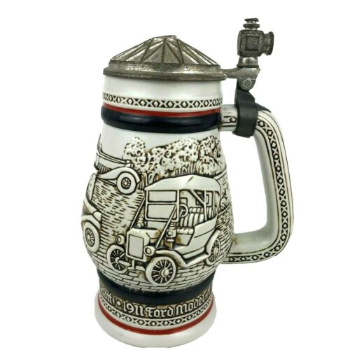 Vintage Avon Cermarte Beer Stein Classic Automobiles Cars Ford Model T #164751