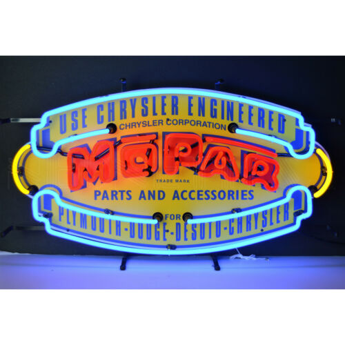 Mopar Neon sign Plymouth Hemi Dodge Desoto Chrrysler Parts wall lamp light Cuda