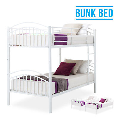 3FT Single White Metal Bunk Bed Frame Twins Furniture for Adult Kids Children