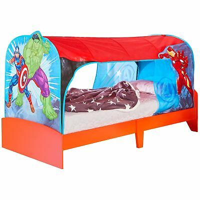 OFFICIAL MARVEL AVENGERS OVER BED TENT DEN CANOPY SINGLE BOYS HULK IRON MAN