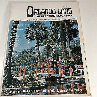 Vintage April 1970 Orlando Land Attraction Magazine Tourist Travel Guide Florida