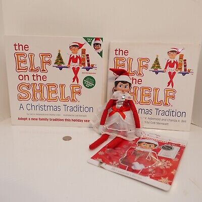 The Elf on the Shelf Combo Box Book w/ Blue-eyed Girl Doll & Extra Dress !!!