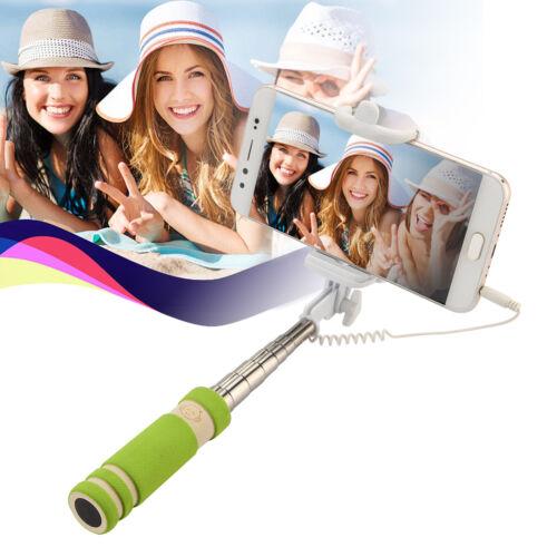 Mini Selfie Stick Monopod Wired Foldable Mobile Phone Holder