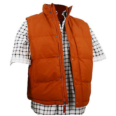 Back To The Future Vest (Adult Puffer Vest Marty McFly Back to the Future Orange Rust Costume)