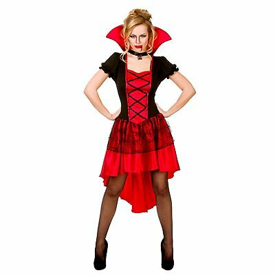 Glamorous Vamp Vampire Halloween Blood Adults Womens Fancy Dress Costume