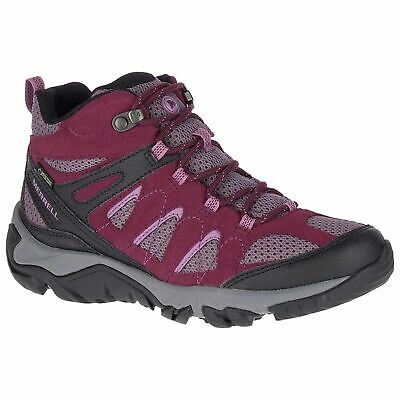 - Ladies Fig Lace Up Merrell Walking boots Outmost Mid Vent GTX J41070