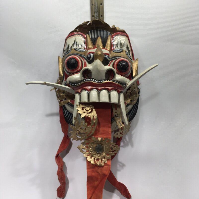 Vintage Balinese Mask Rangda Barong Indonesia Dance Tongue