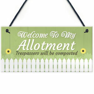 Welcome To My Allotment Garden Sign Outdoor Plaque Gift Dad Grandad Grandma