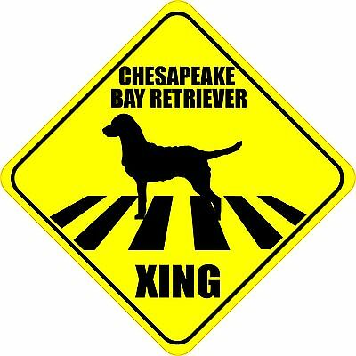 Chesapeake Bay Retriever Sticker - CHESAPEAKE BAY RETRIEVER XING CROSSING ROAD SIGN 4