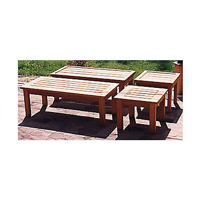 Woodworking Project Paper Plan to Build Patio Coffee Table and End Table ()