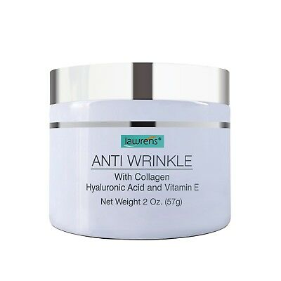 Anti-Wrinkle Cream with Collagen, Hyaluronic Acid, Vitamin E - 2 oz