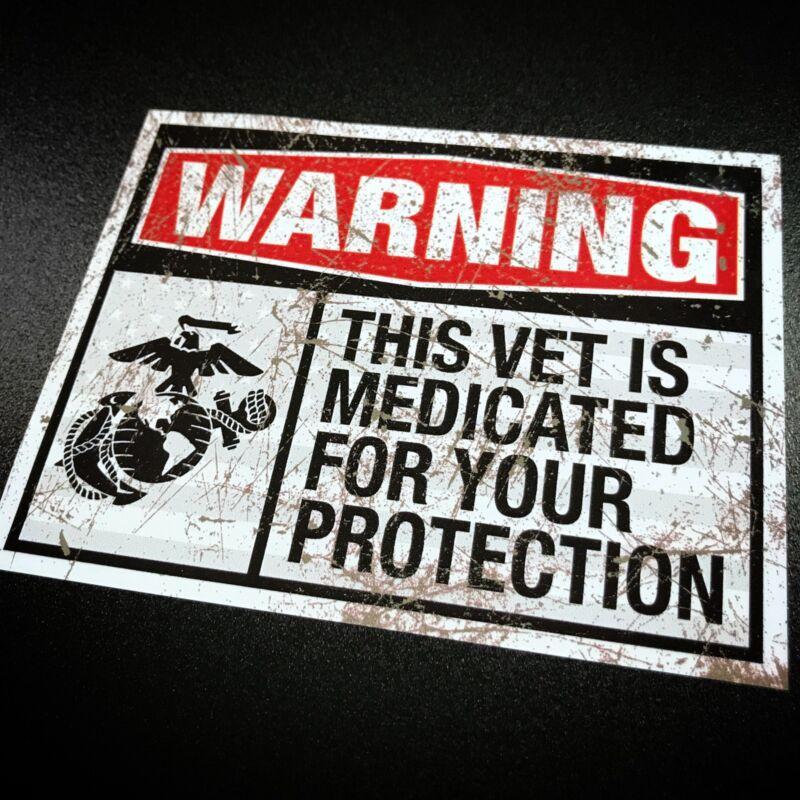 Medicated Veteran USMC - Sticker