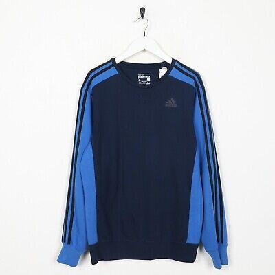 Vintage adidas Pequeño Logo Poliéster Jersey Sudadera Azul PEQUEÑA S segunda mano  Embacar hacia Spain