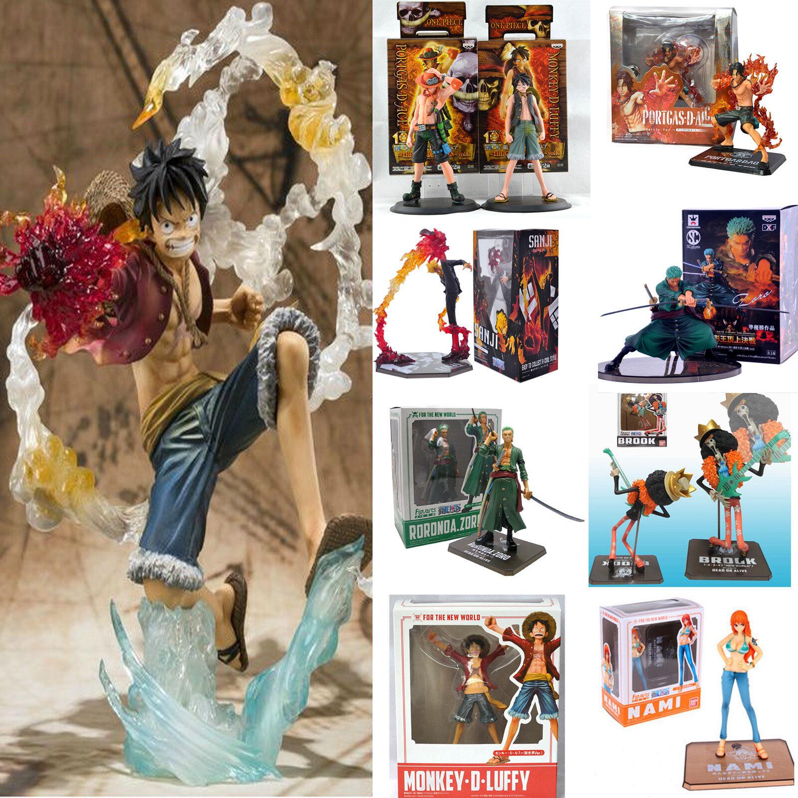 Anime One Piece PVC Figuren Luffy Zoro Sanji Actionfigur Spielzeug Geschenk Gift