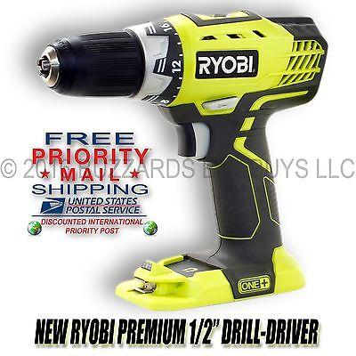 "NEW Ryobi P208 18V Li-Ion 1/2"" Drill/Driver (BARE TOOL) Free Priority Mail Ship"