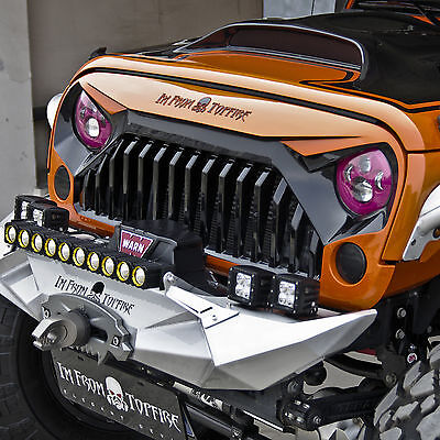 Fury Series Front Matte Black grill grille for jeep wrangler 2007-2017