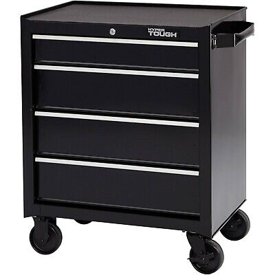 Mechanic Rolling Tool Chest Cart Box Container Garage Shed 4 Drawer Steel Black