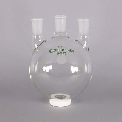 Chemglass 2000ml 3-neck Heavy Wall Round Bottom Flask Cg-1522-50