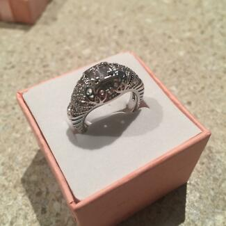 SILVER ART DECO VINTAGE INSPIRED RING SIZE 5 Balwyn Boroondara Area Preview