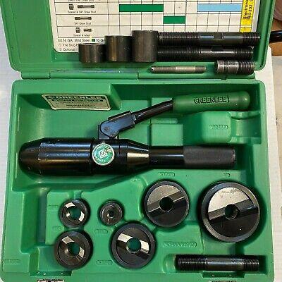 Greenlee 7806sb Hydraulic Punch Set Driver Tool Kit 12 - 2
