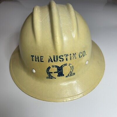 Vtg E.d. Bullard Co Hard Boiled Fiberglass Hard Hat Original Liner S.f. Usa