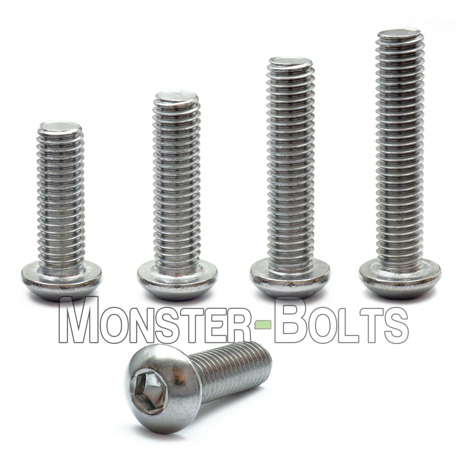 M5 x 12mm Button Head Socket Cap Screws,Pack 50-Piece,Stainless Steel,Full Thread,Metric