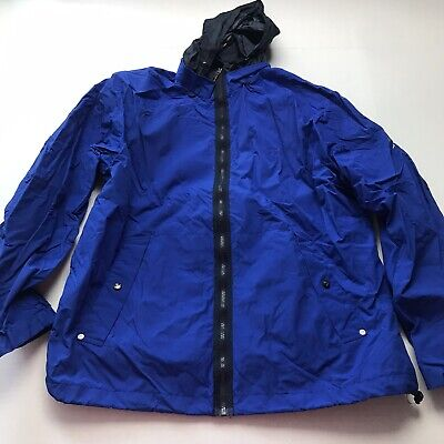 Nautica Blue Vented Lightweight Windbreaker Jacket Size Large A412