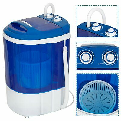 9lbs Portable Compact Washing Machine w/Washer&Spinner, Gravity Drain Pump Hose