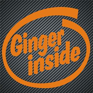 39 ginger inside 39 orange funny car sticker ebay. Black Bedroom Furniture Sets. Home Design Ideas