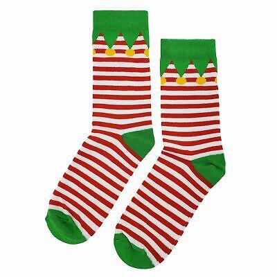 NWT Christmas Elf Dress Socks Novelty Men 8-12 Red and White Fun - White Elf Dress