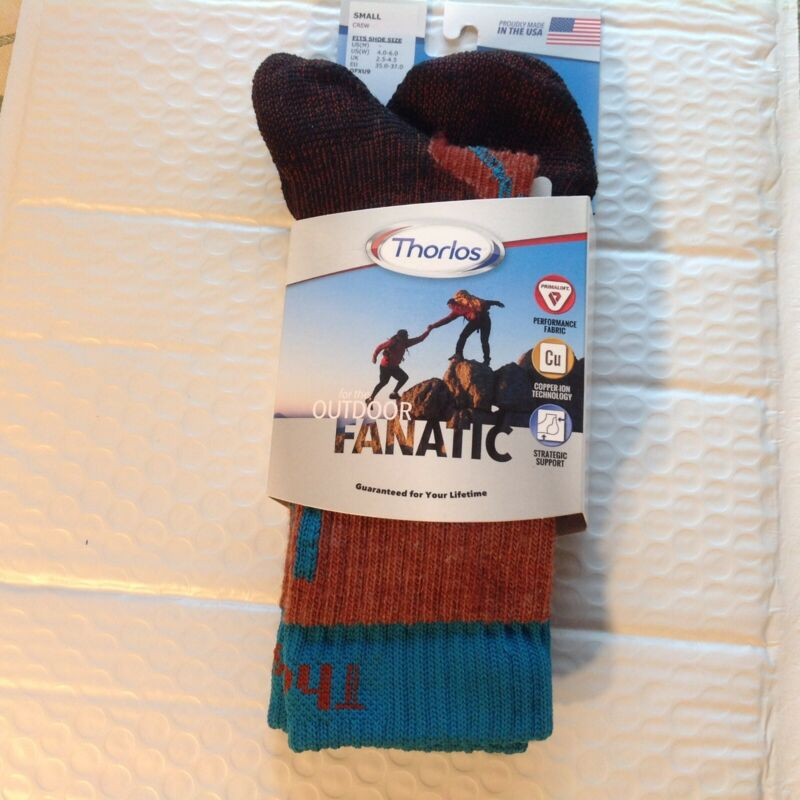SOCKS Running THOROLOS Outdoor Fanatic Hiking Backpacking Size S Crew FREE ship.