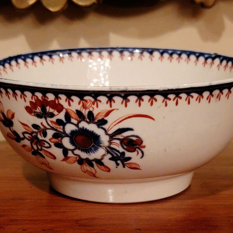 English Liverpool Imari Porcelain Bowl C 1770