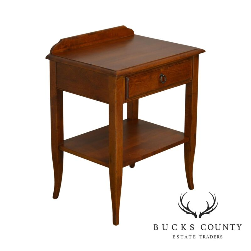 Ethan Allen French Country Style Solid Cherry One Drawer Nightstand