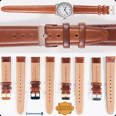 KAPTEN & SON® GENUINE LEATHER WATCH STRAP SOFT BAND BRUSHED BUCKLE MEN'S WOMEN'S