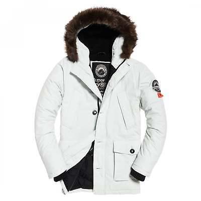 outlet store a8a55 4f714 Superdry Kitt weißen Pelz getrimmt Everest Parka Jacke HXN