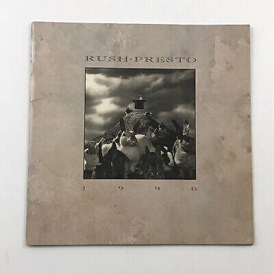 Rush: 'Presto' 1990 Tour Program Excellent