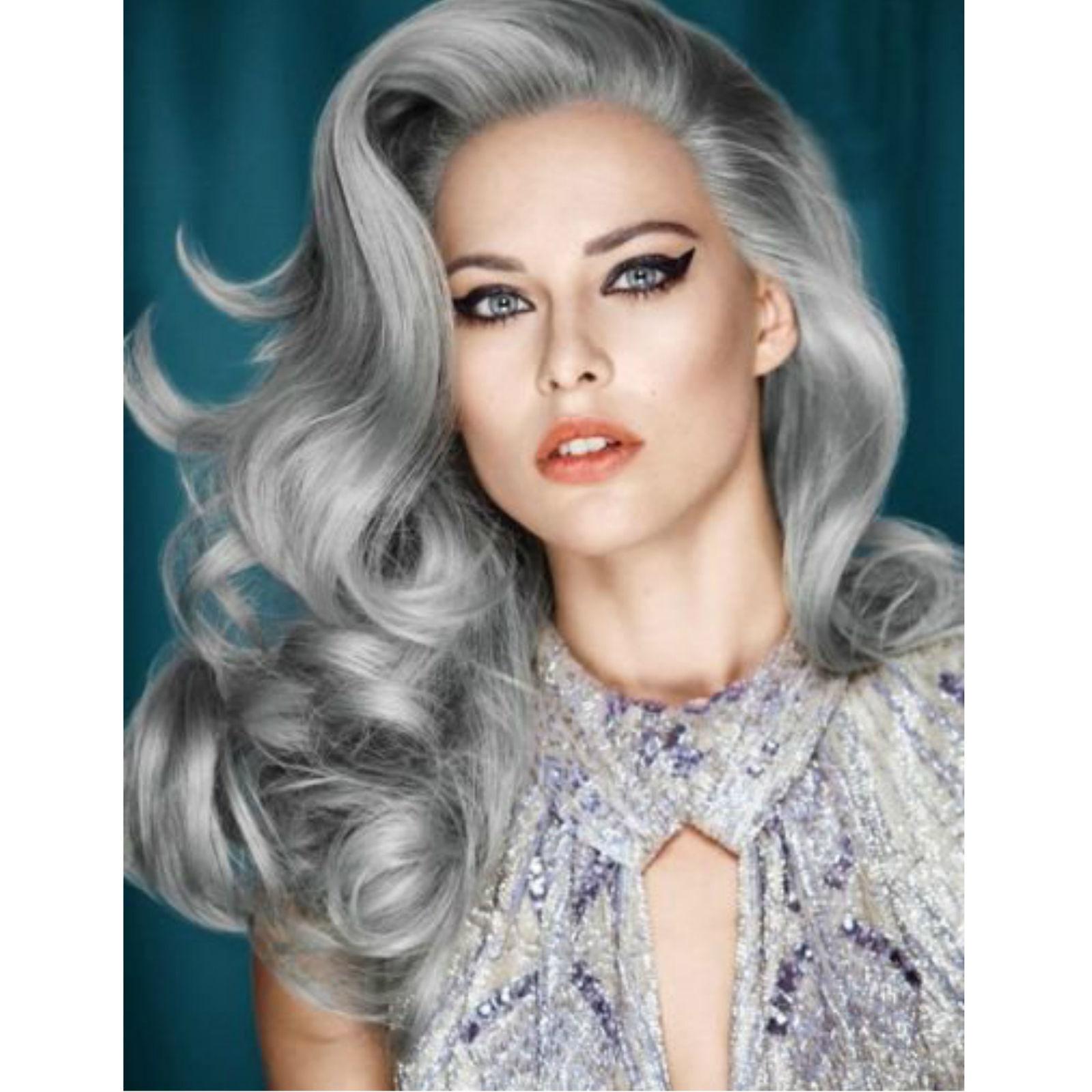 رنگ یخی قطبی Granny Hair Trend: Young Women Are Dyeing Their Hair Gray