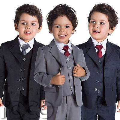Baby Boys Black Suit, Baby Boys Navy Suit, Page Boy Suits, 1 - 14 years - Black Boys Suits