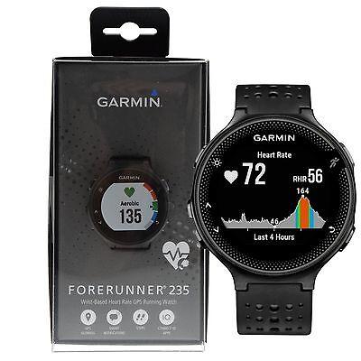 Garmin Forerunner 235 GPS Running Watch w/ Wrist-based HRM Monitor - Black/Gray