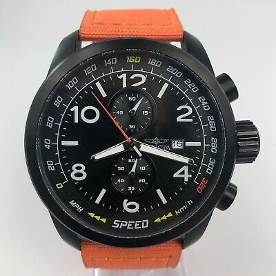 INVICTA AVIATOR TRINITE NIGHT GLOW ORANGE STRAP 19412