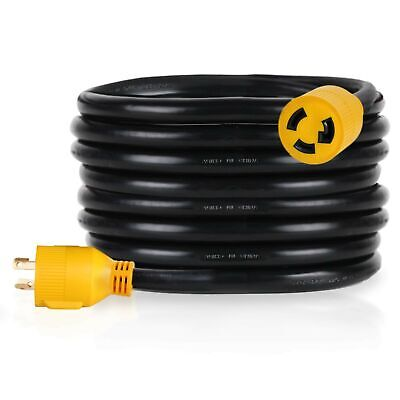 Proline Power Heavy Duty 12 Ft Generator Extension Cord 30 Amp 3 Prong 120v...
