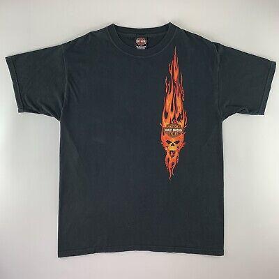 """Harley Davidson Motorcycles """"Electric City"""" Scranton PA Flames Biker Shirt Sz L"""